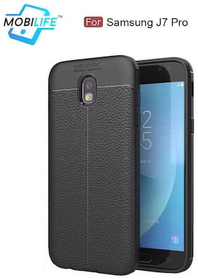 Back Case For Samsung J7 Pro Mobilife(TM) Soft Silicone TPU Flexible Gel Leather Back Effect Auto Focus Back Cover For Samsung J7 Pro