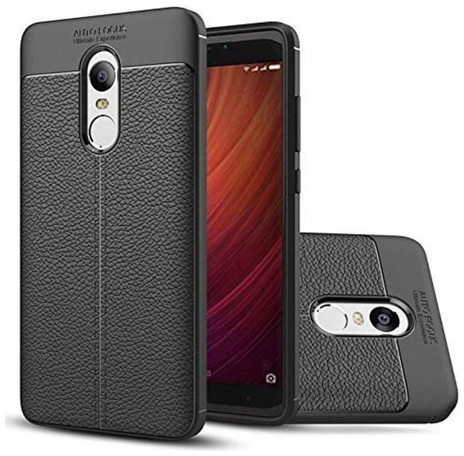 Back Cover for Xiaomi Mi Redmi Note 3 | Leather Pattern Mobile Phone Soft Covers and Cases for Xiaomi Mi Redmi Note 3 [AutoFocus]   Black