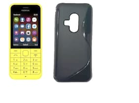 Nokia 200 Rubber Back Cover By TEQGO ( Black )