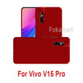 FOKATKART Plastic Back Cover For Vivo V15 Pro ( Red )