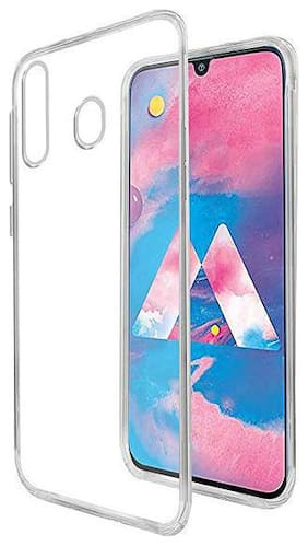 BIG CAT Rubber Back Cover For Samsung Galaxy M30 ( Transparent )