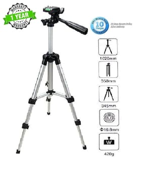 Backlund 3110 Portable & Foldable Camera Mobile Tripod With Mobile Clip Holder Bracket , Fully Flexible Mount Cum Tripod , Standwith Three-dimensional Head For Smartphones, Action DSLR Cameras
