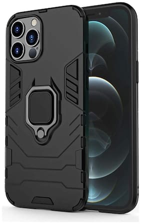ACCESORIES LEGACY Polycarbonate Back Cover For Apple iPhone 12 Pro ( Black )