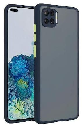ACCESORIES LEGACY Polycarbonate Back Cover For OPPO F17 Pro ( Black )