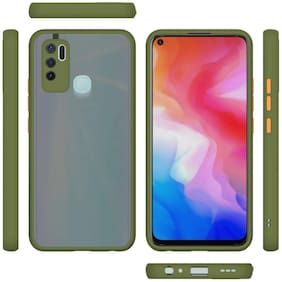 ACCESORIES LEGACY Polycarbonate Back Cover For OPPO A53 ( Green )