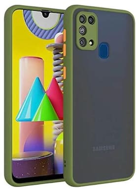 ACCESORIES LEGACY  Back Cover For Samsung Galaxy M31 Prime Green