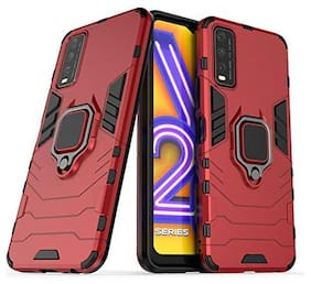 ACCESORIES LEGACY Polycarbonate Back Cover For Vivo Y20 ( Red )