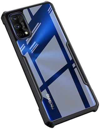 ACCESORIES LEGACY Plastic Back Cover For Realme 7 Pro ( Black )