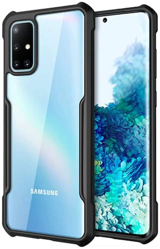 Samsung Galaxy M51 Plastic Back Cover By ACCESORIES LEGACY ( Black )
