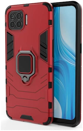 ACCESORIES LEGACY Polycarbonate Back Cover For OPPO F17 Pro ( Red )