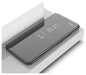 BACKLUND Glass Flip Cover For Samsung Galaxy A50s ( Black )