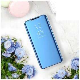 BACKLUND Glass Flip Cover For Samsung Galaxy M30s ( Blue )
