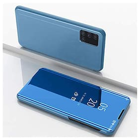 ACCESORIES LEGACY Glass Flip Cover For Samsung Galaxy M51 ( Blue )