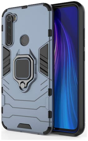 ACCESORIES LEGACY Metal & Plastic Back Cover & Hard Back Cover For Redmi Note 8 ( Blue )