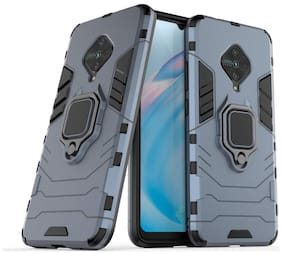ACCESORIES LEGACY Metal & Plastic Back Cover For Vivo S1 Pro ( Blue )