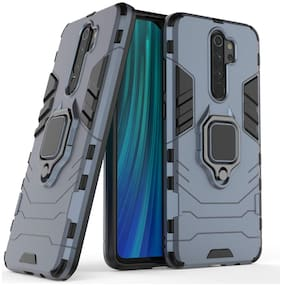 Backlund D5 Ringstand Case for Xiaomi Redmi Note 8 Pro Matte Dual Layer Protective Hybrid Ultra Rugged Bumper Armor Shockproof 360° Kickstand Back Case Cover For Xiaomi Redmi Note 8 Pro (Blue)