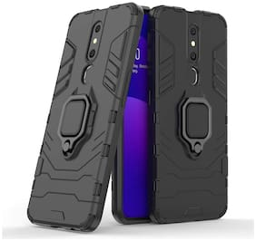 ACCESORIES LEGACY Metal & Polycarbonate Back Cover & Flip Cover For Oppo F11 & OPPO A9 ( Black )
