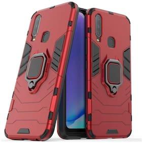 BACKLUND Metal & Plastic Back Cover For Vivo Y15 & Vivo U10 ( Red )