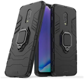 OnePlus 7T Pro Metal & Plastic Back Cover & Flip Cover By ACCESORIES LEGACY ( Black )