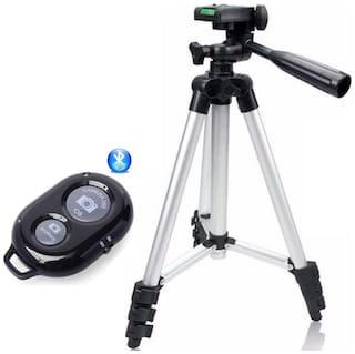 Backlund 3110 Portable & Foldable Camera Mobile Tripod With Bluetooth Wireless Remote Shutter Photo Clicker Controller Compatible with Xiaomi, Lenovo, Apple, Samsung, VIVO, Oppo, Gionee, Smartphones