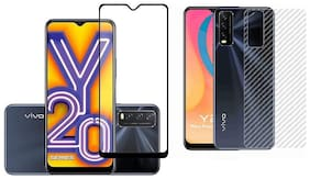 Accesories Legacy Vivo Y20g,Vivo Y20i,Vivo Y20,Vivo Y20i,Vivo Y12s Back Screen Protective Film Carbon Fiber Skin Transparent Screen Guard Sticker 6D/11D Black Premium Tempered Glass Screen Protector