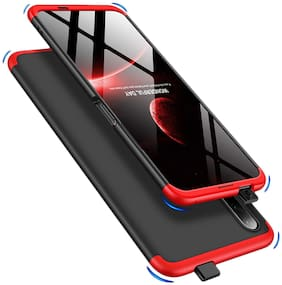ACCESORIES LEGACY  Huawei Y9 2019 Cover Case Ull Body 3 in 1 Slim Fit Complete 3D 360 Degree Protection Hybrid Hard Bumper Back Case Cover for Huawei Y9 2019 (Red)