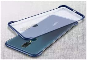 BACKLUND Plastic Back Cover For Oppo F11 ( Blue )
