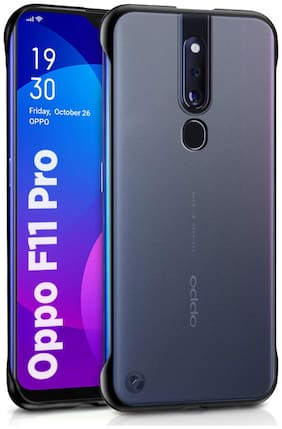 BACKLUND Plastic Back Cover For Oppo F11 Pro ( Blue )