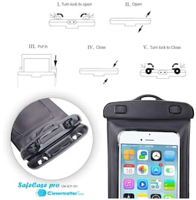 Backlund Rain & Dust Protection Waterproof Mobile Pouch (Wp-Pc-1, Black)
