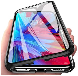 ACCESORIES LEGACY Glass & Metal Back Cover & Flip Cover For Realme X ( Black )