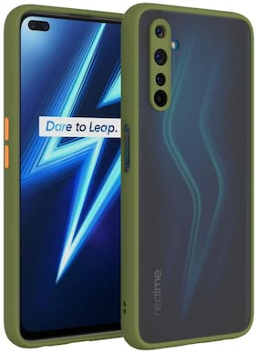 ACCESORIES LEGACY Polycarbonate Back Cover For Realme 6i ( Green )