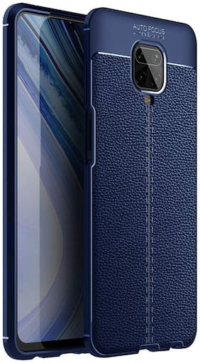 Backlund Redmi Note 9 Pro/Redmi Note 9 Pro Max Back Cover Drop Tested Shock Proof Slim Armor Rugged TPU Leather Texture Case for Redmi Note 9 Pro/Redmi Note 9 Pro Max (Blue)
