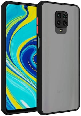ACCESORIES LEGACY Polycarbonate Back Cover For Redmi Note 9 Pro ( Black )