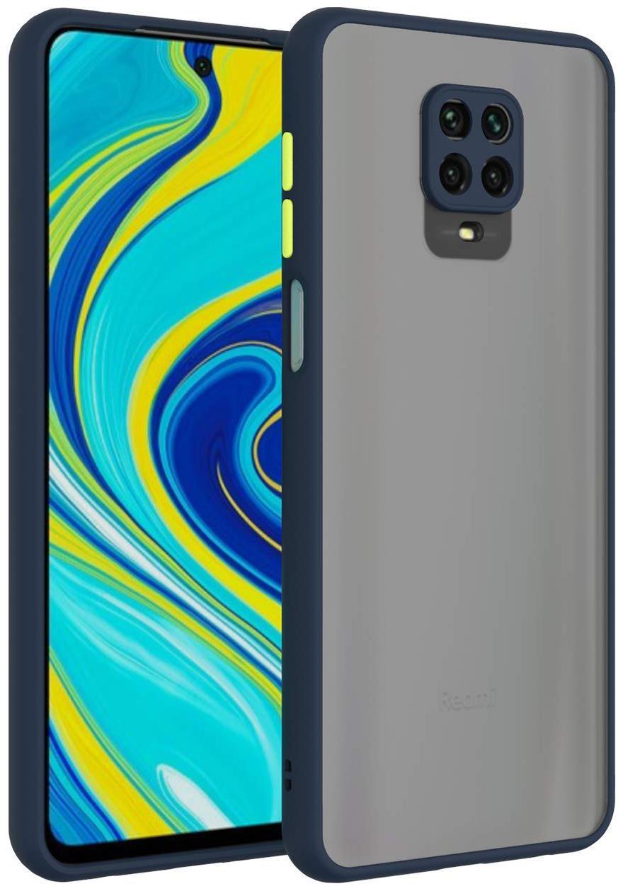 Backlund Redmi Note 9 Pro MAX Smoke Color Button Camera Protection Translucent...