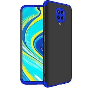 ACCESORIES LEGACY Polycarbonate Back Cover For Redmi Note 9 Pro Max ( Blue )