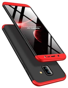 ACCESORIES LEGACY Polycarbonate Back Cover For Samsung Galaxy J6 Plus ( Black & Red )