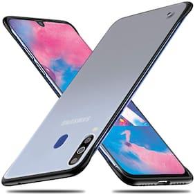 Backlund Samsung galaxy A50s, Samsung Galaxy A50, Samsung Galaxy A30s Ultra Slim Frame-less Design Frosted Matte Semi-Transparent Hybrid Bumper Hard Back Case Cover for Samsung A50s /A30s/A50 (Black)