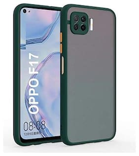 ACCESORIES LEGACY Polycarbonate Back Cover For OPPO F17 Pro ( Green )