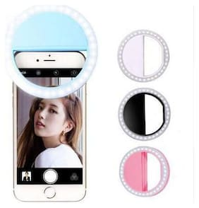 Backlund Soft White Color Selfie Ring Light with 3 Modes and 36 LED for Mobile Phone Photos,Camera Photography,Video Photo Shoot Flash (Random Colour)