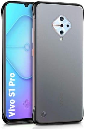 ACCESORIES LEGACY Plastic Back Cover & Flip Cover For Vivo S1 Pro ( Black )