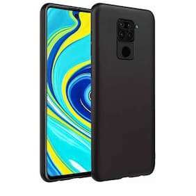 ACCESORIES LEGACY Rubber Back Cover For Redmi Note 9 ( Black )