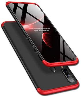 Backlund Vivo Y17 / Vivo Y15 / Vivo Y12 / Vivo U10 / Vivo Y11 Cover Case Ull Body 3 in 1 Slim Fit Complete 3D 360 Degree Protection Hybrid Hard Bumper Back Case Cover for Vivo Y17 / Vivo Y15 (Red)