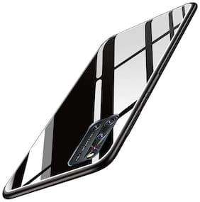 ACCESORIES LEGACY Glass Back Cover For Vivo X50 ( Black )