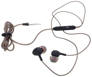 S4 Bass Heads with HD Sound In-Ear Wired Headphone ( Brown )