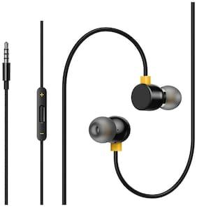 Matt Pie Thunderous Bass Hits real Buds Earphones 2 In-Built Remote In-Ear Wired Headphone ( Black )