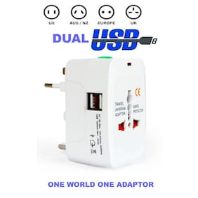 Best From All Universal World Wide Travel Charger Adapter Plug suitable for all your electronic devices and gadgets With 2 USB Port
