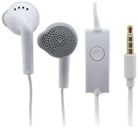 Best Quality  YS Earphone Headsets With Mic & Firing sound For Galaxy J7 PRIME-J5 PRIME-J7 PRO-J2 PRO-J3 PRO Android Smartphones Wired Headset with Mic  (White  In the Ear)