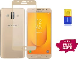 Best Selling Samsung Galaxy J7 Duo 6D Tempered Glass by Tempered Glasses Get a Memory Card Reader Free