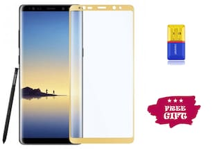 Best Selling Samsung Galaxy Note 8 6D Tempered Glass by Tempered Glasses Get a Memory Card Reader Free
