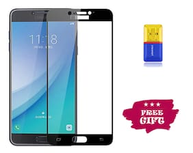 Best Selling Galaxy C7 Pro 6D Tempered Glass by Tempered Glasses Get a Memory Card Reader Free